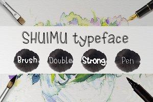 SHUIMU 4 Styles TrueType Font