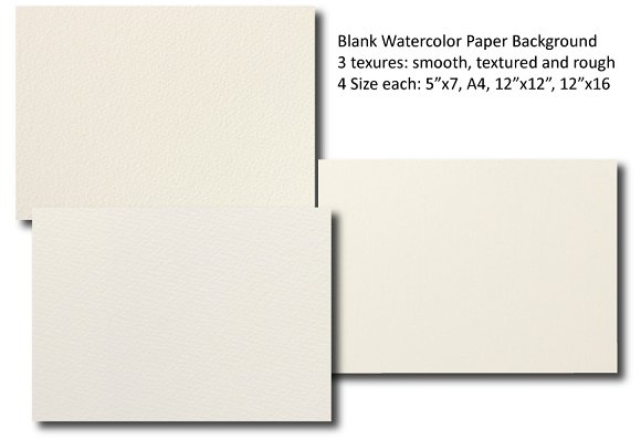 Blank Watercolor Paper Background Textures on Creative Market – Blank Paper Background