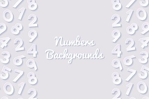 Abstract backgrounds with numbers