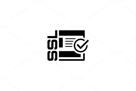 SSL Secured Icon. Flat Design.