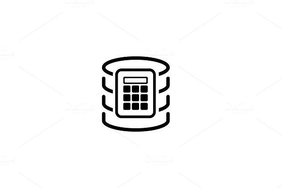 Secure Database Icon. Flat Design.