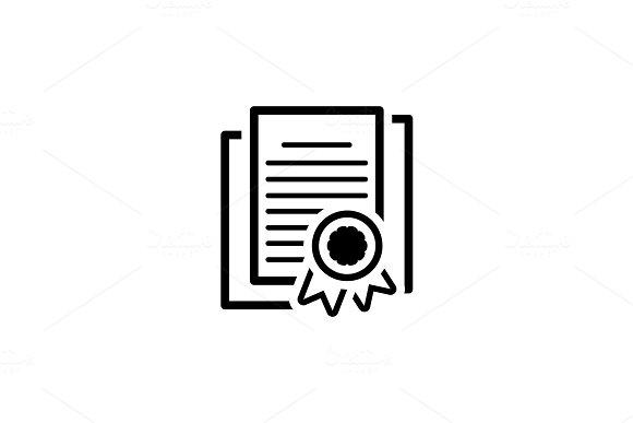Security Certificates Icon. Flat Design.