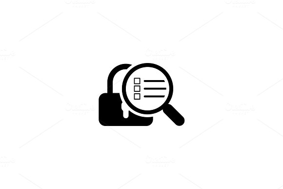 Security Scan Icon Flat Design