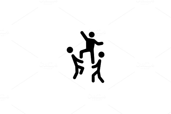 Team Building Concept Icon. Flat Design.