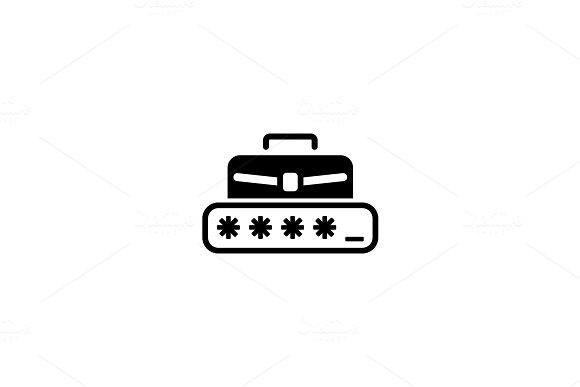 Personal Access Icon. Flat Design.