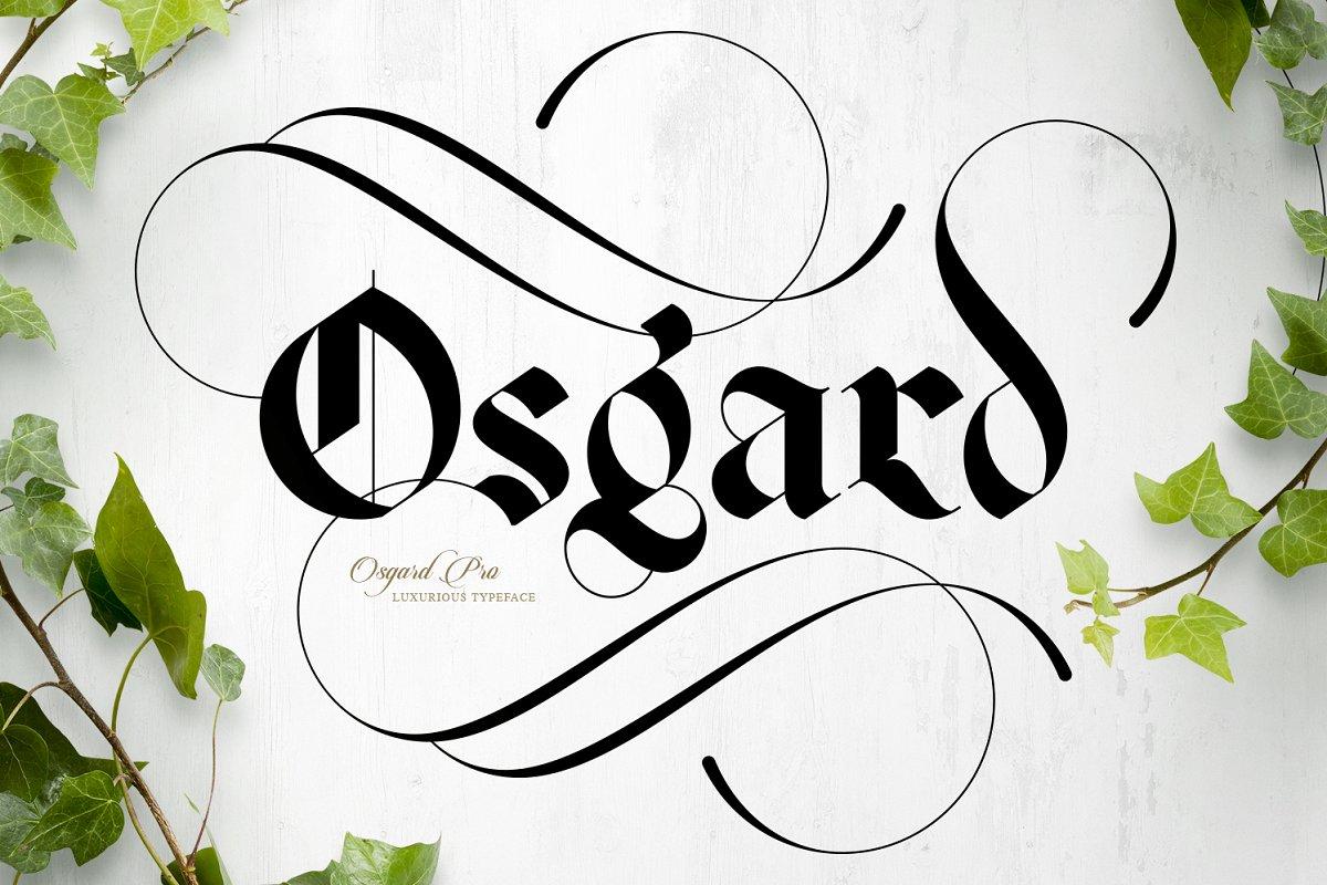 Osgard Pro   Font ~ Blackletter Fonts ~ Creative Market