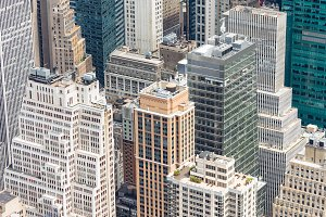 Midtown Manhattan Aerial View