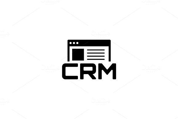 Shop CRM System Icon Flat Design