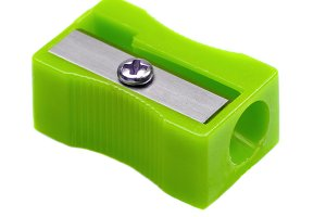 Green pencil sharpener