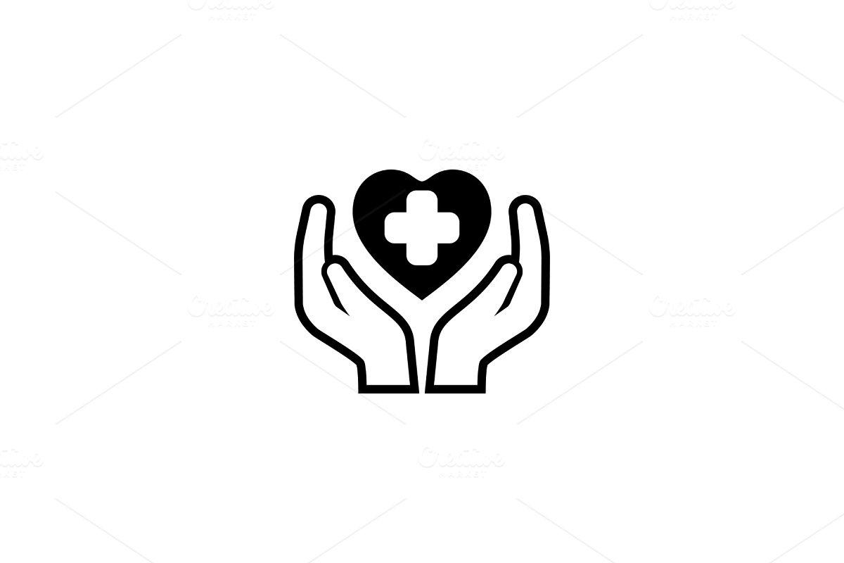 Health Care Center Icon. Flat Design.