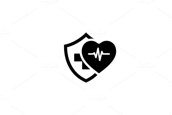 Health Insurance Icon. Flat Design.