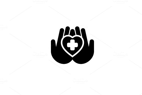 Heart Care Icon. Flat Design. in Objects