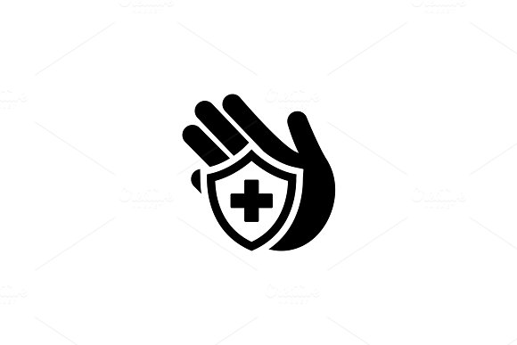 Insurance Icon. Flat Design. in Objects