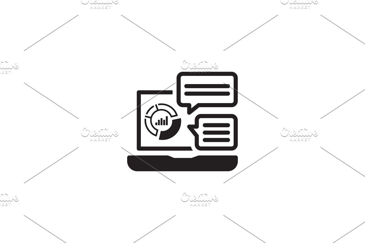 Store Analytics Icon. Flat Design.