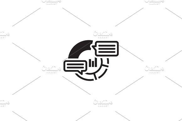 Analytics Icon. Flat Design.