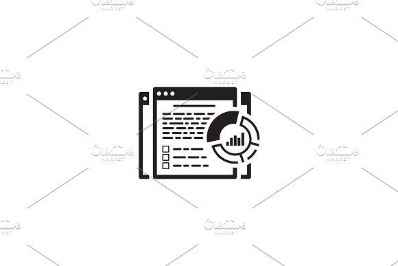 Report Icon. Flat Design.