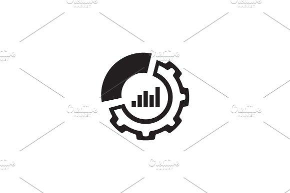 Set Up Analytics Icon. Flat Design.