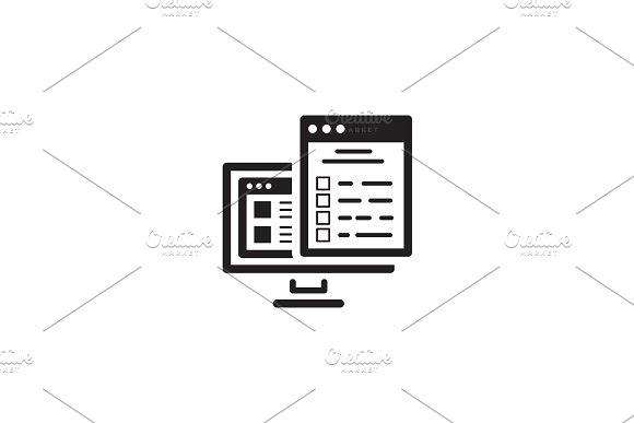Checklist Icon. Flat Design.