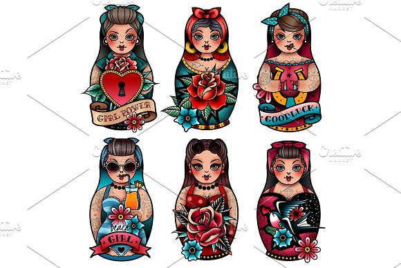 Russian Dolls Set