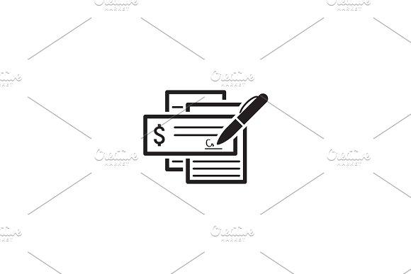 Document Flow Icon. Flat Design.