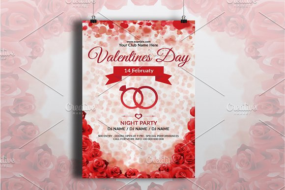 Valentine S Day Event Flyer V726 Flyer Templates Creative Market