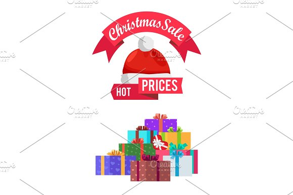 Hot Prices Christmas Sale Gift Card with Emblem