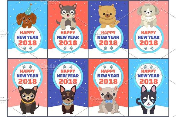Happy New Year 2018 Congrats Vector Illustration