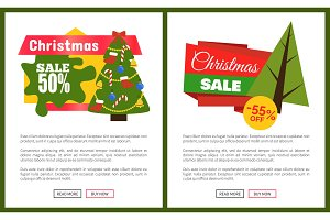 Christmas Sale Off Card Vector Illustration