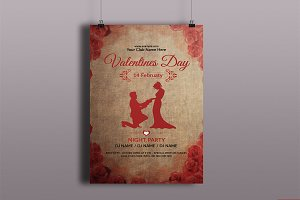 Valentine's Day Party Flyer V727