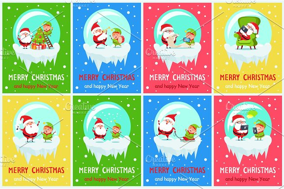 Merry Chritsmas Great Pleasure Vector Illustration