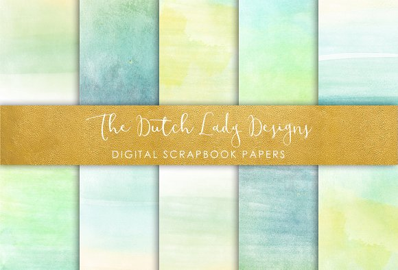 Watercolor Ombres - Scrapbook Papers