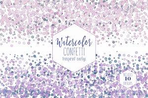 Watercolor Confetti Overlays