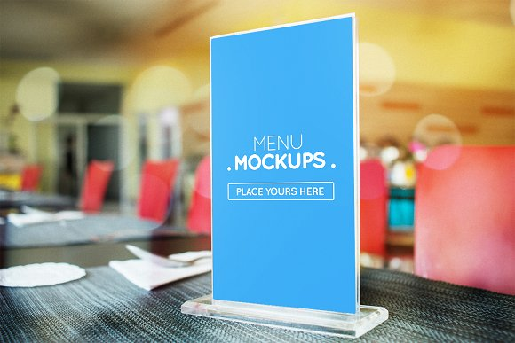 Table Tent Menu Mockup #3