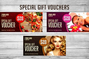 3 Special Gift Vouchers