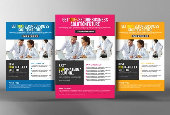Employment Agency Jobs Fair Flyer Flyer Templates Creative Market