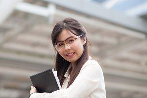 Smile asian businesswoman.