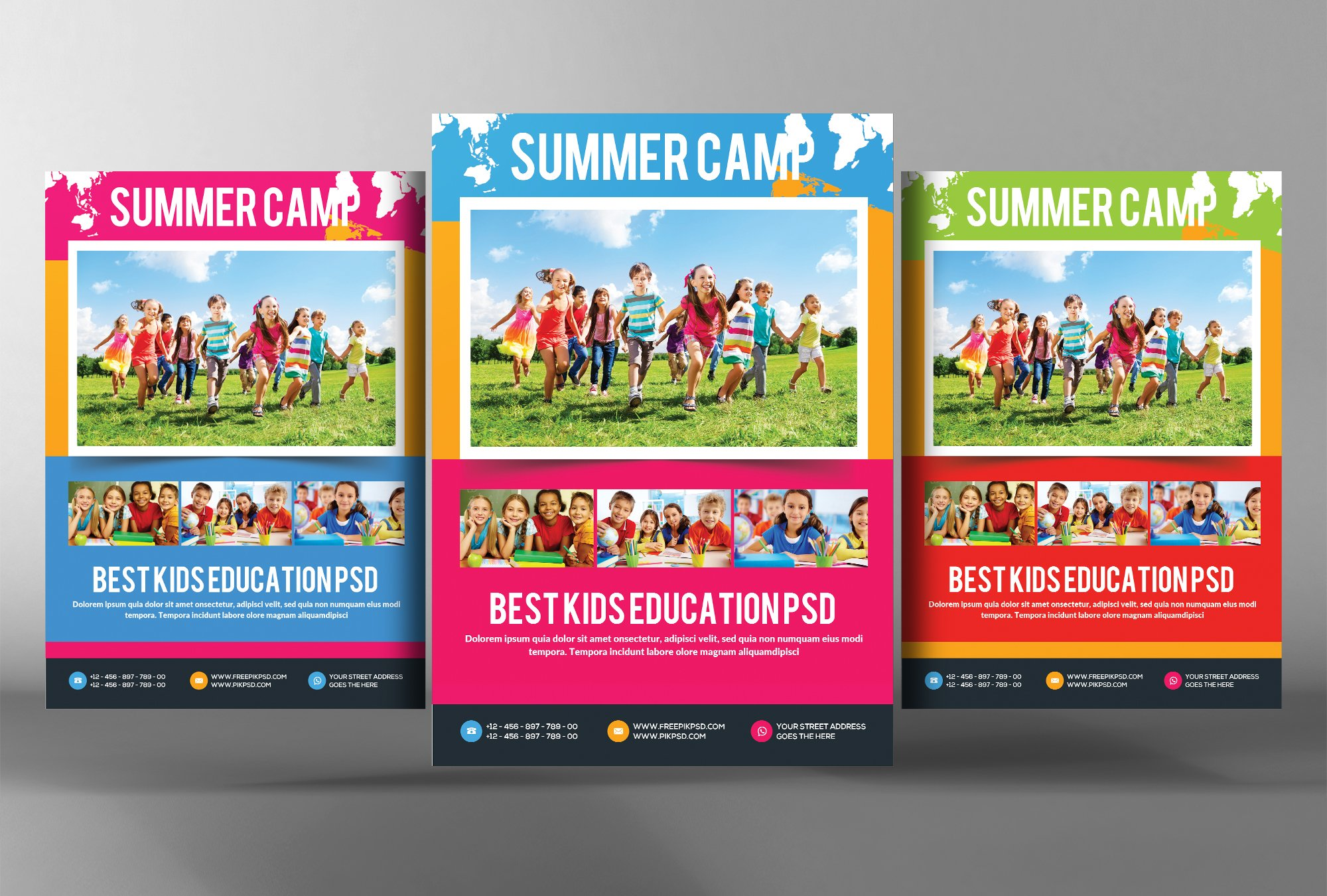Kids Summer Camp Flyer Template Flyer Templates Creative Market - Summer camp brochure template