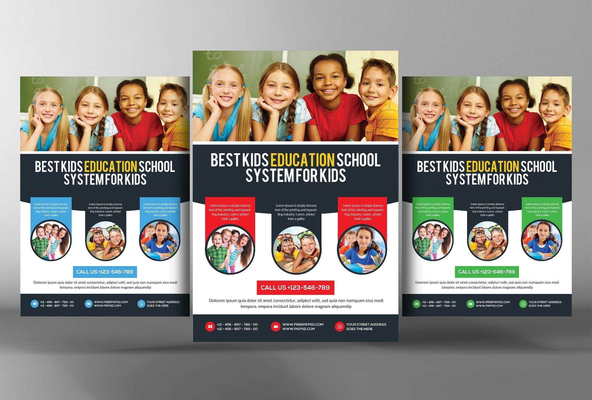 Preschool Kids Day Care Flyer Flyer Templates Creative Market
