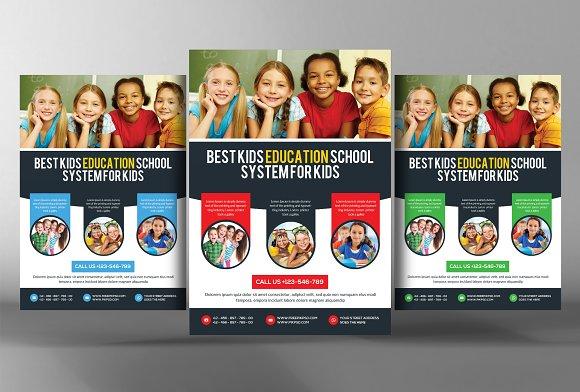 Preschool Kids & Day Care Flyer