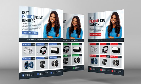 Product Promo Business Flyer in Flyer Templates - product preview 2