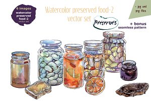 Watercolor preserved food-2