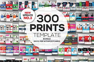 350+ Print Templates Bundle