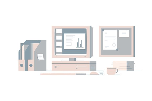 Workspace Illustration Pack in Illustrations - product preview 2