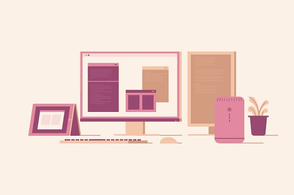 Workspace Illustration Pack in Illustrations - product preview 3