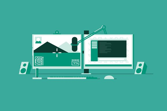 Workspace Illustration Pack in Illustrations - product preview 4