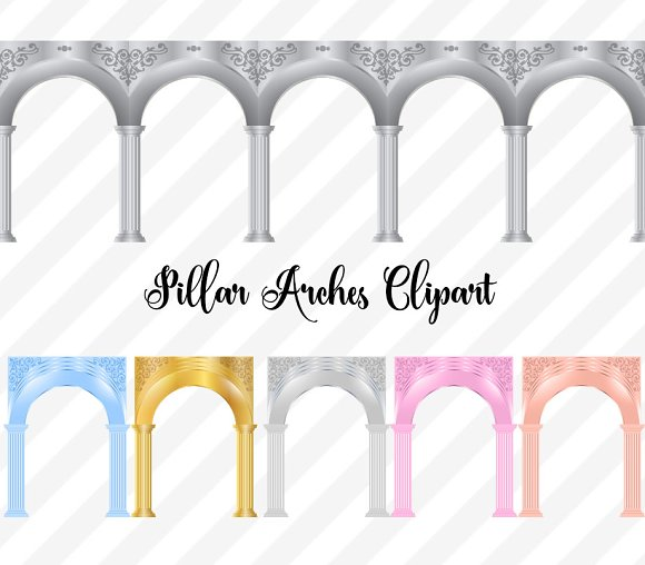 Pillar Arches Clipart