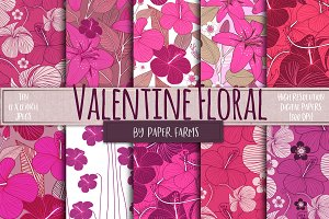 Valentine floral backgrounds