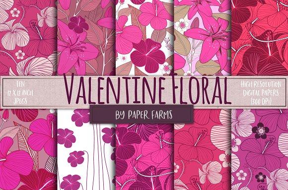 Valentine floral backgrounds