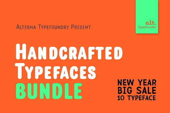 New Year Handcrafted Type Sales
