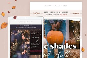 4 Fall Fashion Email Templates